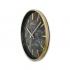 0250 GB2 İnce Çerçeve Oniks Mermer Desen Duvar Saati