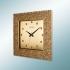 1370 AP Kahverengi Köşeli Taşlı Kadran Duvar Saatı