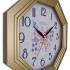 154 G2 Gold Color Wooden Wall Clock