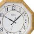 2698 G2 Sekizgen Ahşap Büyük Boy Duvar Saatı