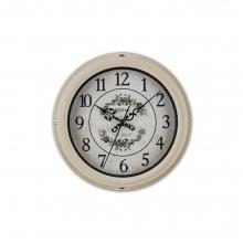 0066 W2  Vintage Tarzı Metal Kasa 22,5 Cm. Duvar Saati