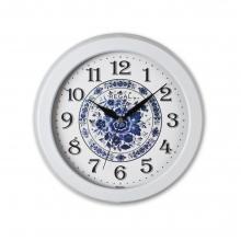 0081 W2 Metal Kasa Mavi-Beyaz Duvar Saati