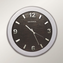 0085 SD Metal Kasa 41 Cm. Düz Deri Kadran Duvar Saati