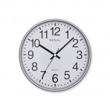 0252 SW Yuvarlak 26 Cm Gümüş Çerç. Duvar Saati