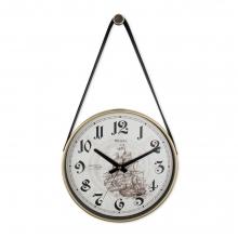 0634 W3 Retro Kayışlı Küçük Boy Duvar Saati