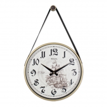 0639 W3 Retro Kayışlı Büyük Boy Duvar Saati
