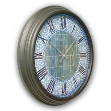1462 MSC Metal Kasa 60cm. Mozaik Kadran Duvar Saatı