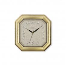 150 G2 Altın Yaldız Sekizgen Ahşap Duvar Saatı