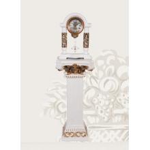 1762 WP İşlemeli Sehpalı Sarkaçlı Beyaz Masa Saati