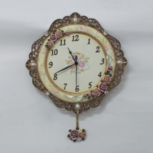18867 GI El İşi Boyama Antik Saat