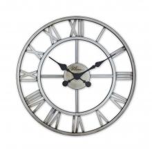 2654 S Retro Metal Roman Numerals Skeleton Wall Clock