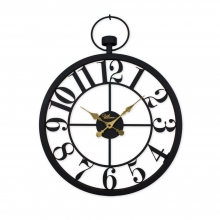 2666 B Retro Metal Small Size Arabic Numbers Skeleton Wall Clock