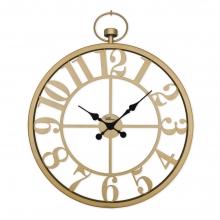 2667 G Ferforje Orta Boy İskelet Tamrakam Duvar Saati