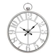 2667 S Ferforje Orta Boy İskelet Tamrakam Duvar Saati