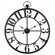 2668 B Ferforje Büyük Boy İskelet Tamrakam Duvar Saati