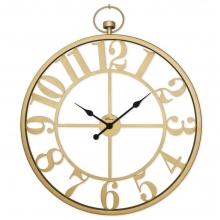 2668 G Ferforje Büyük Boy İskelet Tamrakam Duvar Saati