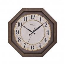 2698 A2 Sekizgen Ahşap Büyük Boy Duvar Saatı