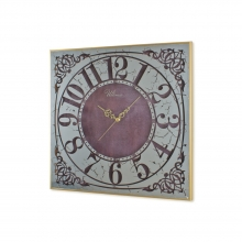 ULTIMA 2745 G2 Distressed Mirror Small Size Wooden Wall Clock