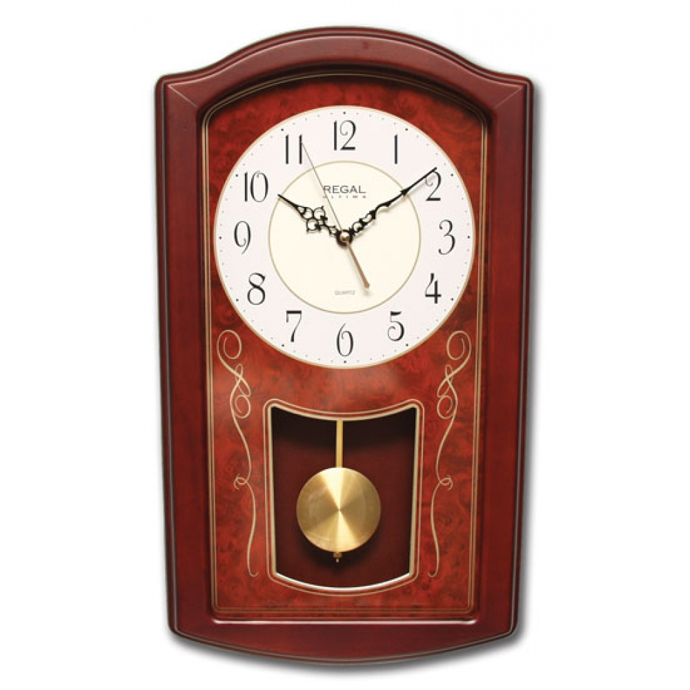 Regal 5004 rw regal dikdrtgen masif sarkal duvar saati 5004 rw solid wood pendulum wall clock amipublicfo Choice Image