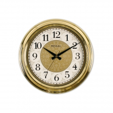 9107 GI Gold Metalize İşlemeli Kadran Duvar Saati