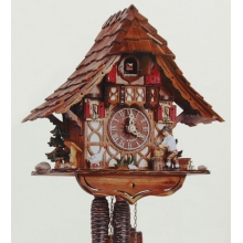 G 1695/9 Cuckoo Clock 1 Day Movement Chalet Style 27 Cm.