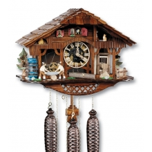 G 8TMT 1090/9 Cuckoo Clock 8 Day Movement Chalet Style 30 Cm.
