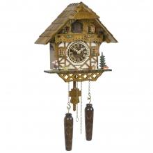 GQ 404 Cuckoo Clock Quatrz Movement Chalet Style 34 Cm.