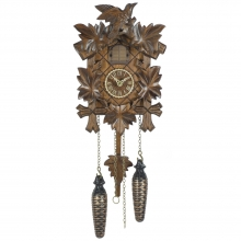 GQ 412 M Cuckoo Clock Quatrz Movement Carved Style 22 Cm.