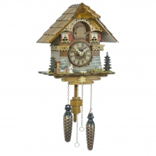 GQ 431 Cuckoo Clock Quatrz Movement Chalet Style 25 Cm.