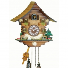 GQ 436 Cuckoo Clock Quatrz Movement Chalet Style 36 Cm.