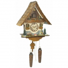 GQ 454 Cuckoo Clock Quatrz Movement Chalet Style 36 Cm.